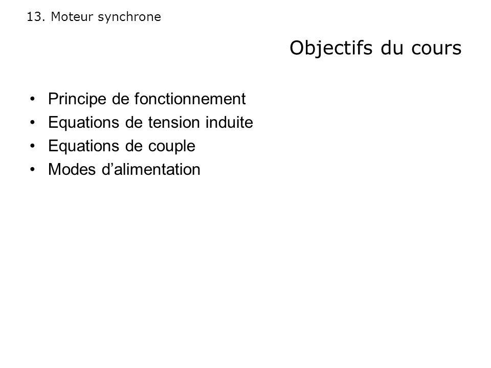 Objectifs du cours Principe de fonctionnement