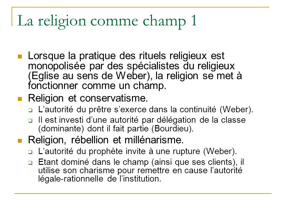 La religion comme champ 1