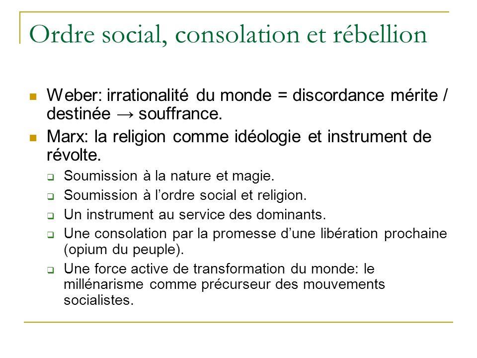 Ordre social, consolation et rébellion