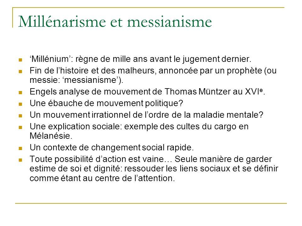 Millénarisme et messianisme