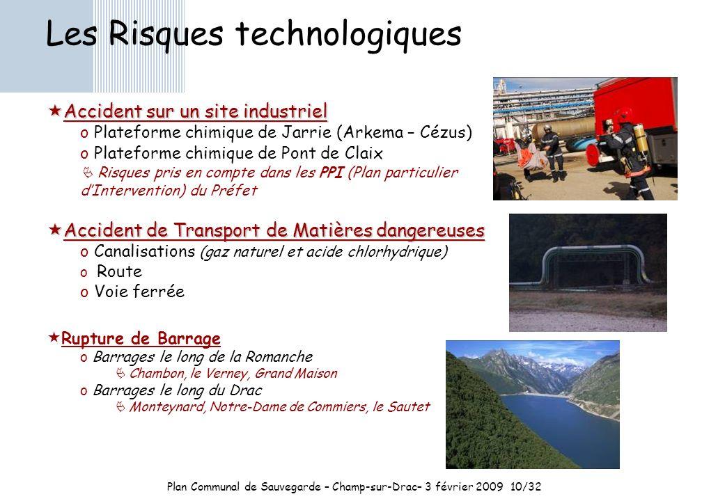 Plan Communal de Sauvegarde – Champ-sur-Drac– 3 février 2009 10/32