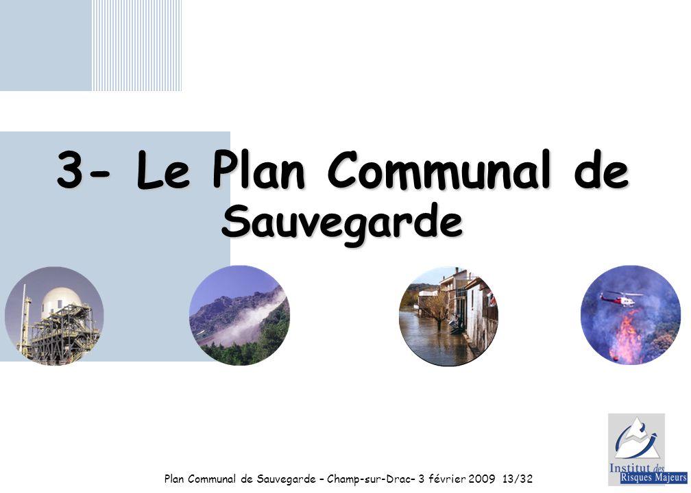 3- Le Plan Communal de Sauvegarde