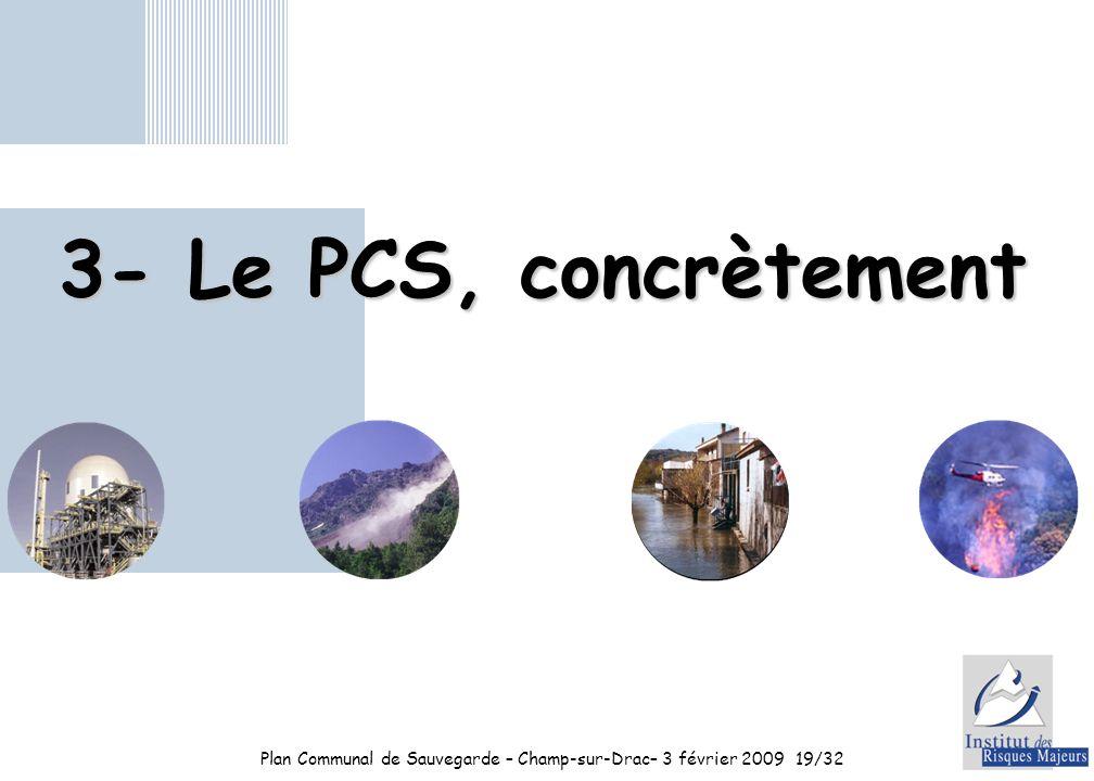 Plan Communal de Sauvegarde – Champ-sur-Drac– 3 février 2009 19/32