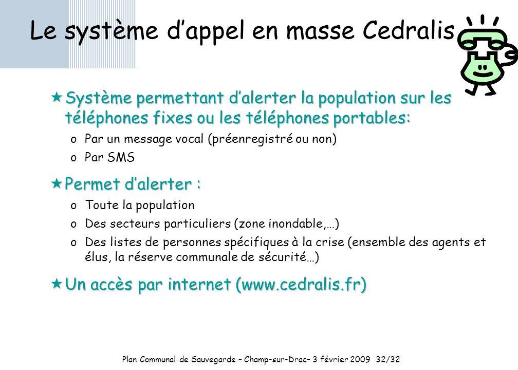 Le système d'appel en masse Cedralis