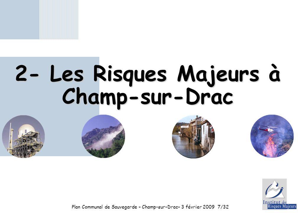 2- Les Risques Majeurs à Champ-sur-Drac