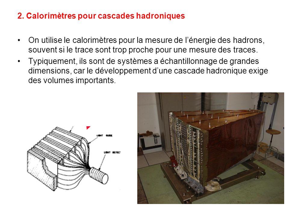 2. Calorimètres pour cascades hadroniques