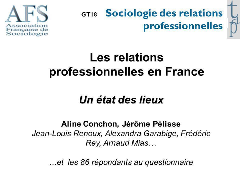 Les relations professionnelles en France Aline Conchon, Jérôme Pélisse