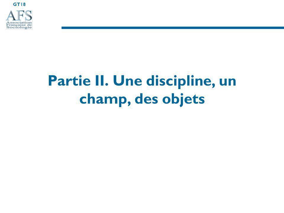 Partie II. Une discipline, un champ, des objets