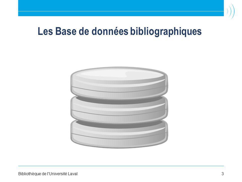 Les Base de données bibliographiques