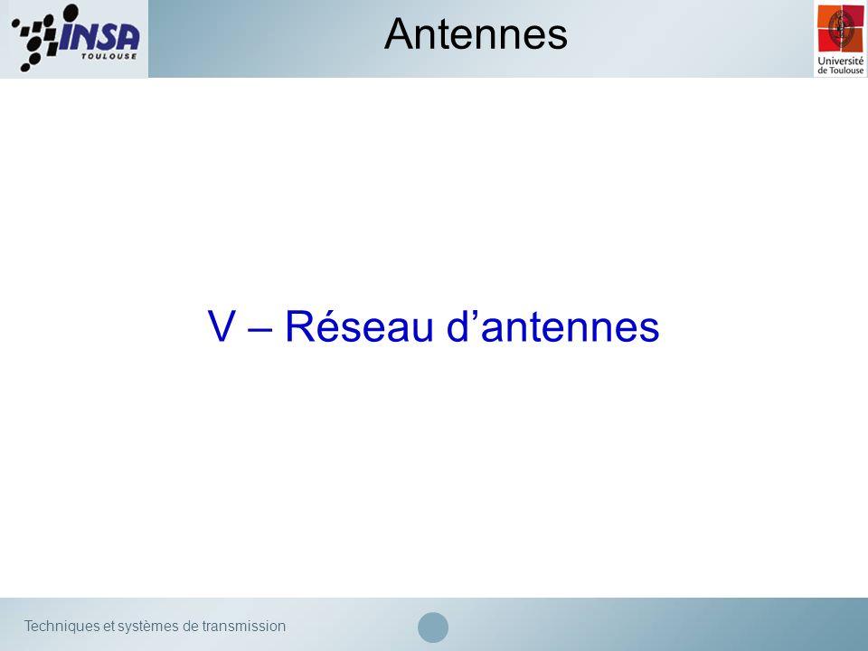 Antennes V – Réseau d'antennes