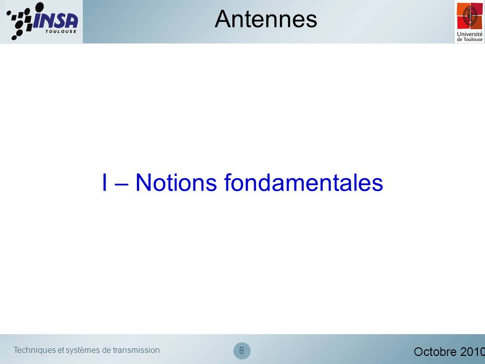 I – Notions fondamentales