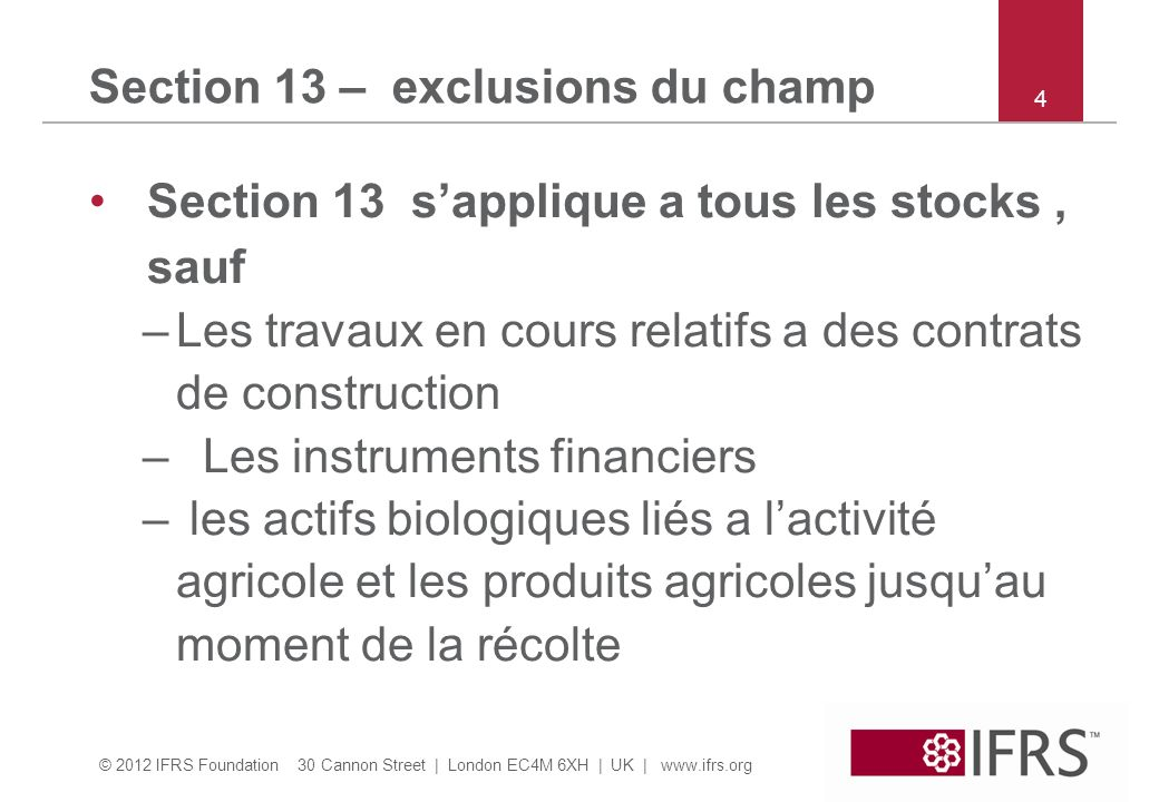 Section 13 – exclusions du champ