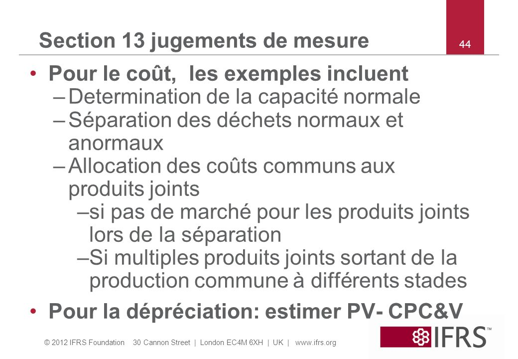 Section 13 jugements de mesure