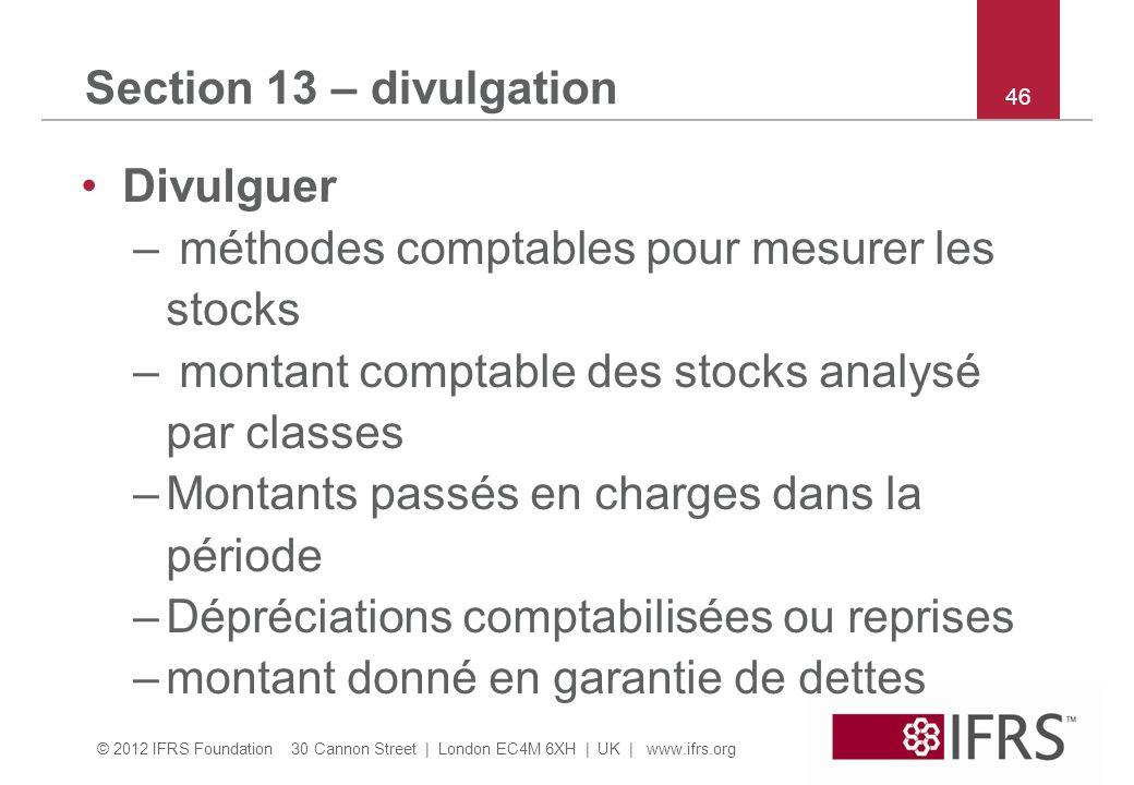 méthodes comptables pour mesurer les stocks