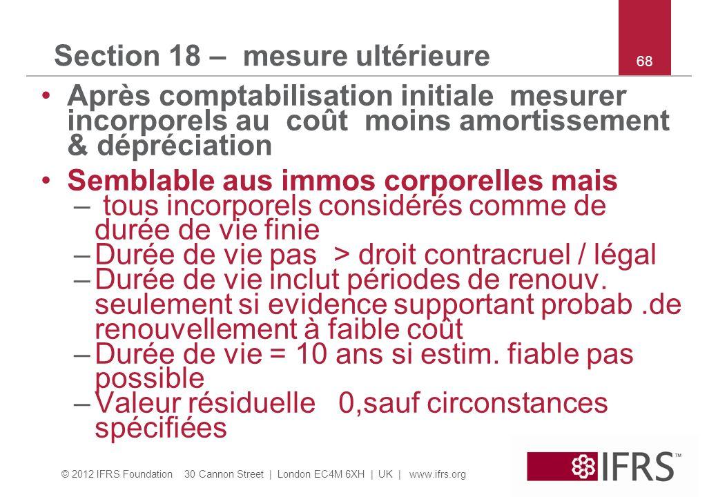 Section 18 – mesure ultérieure