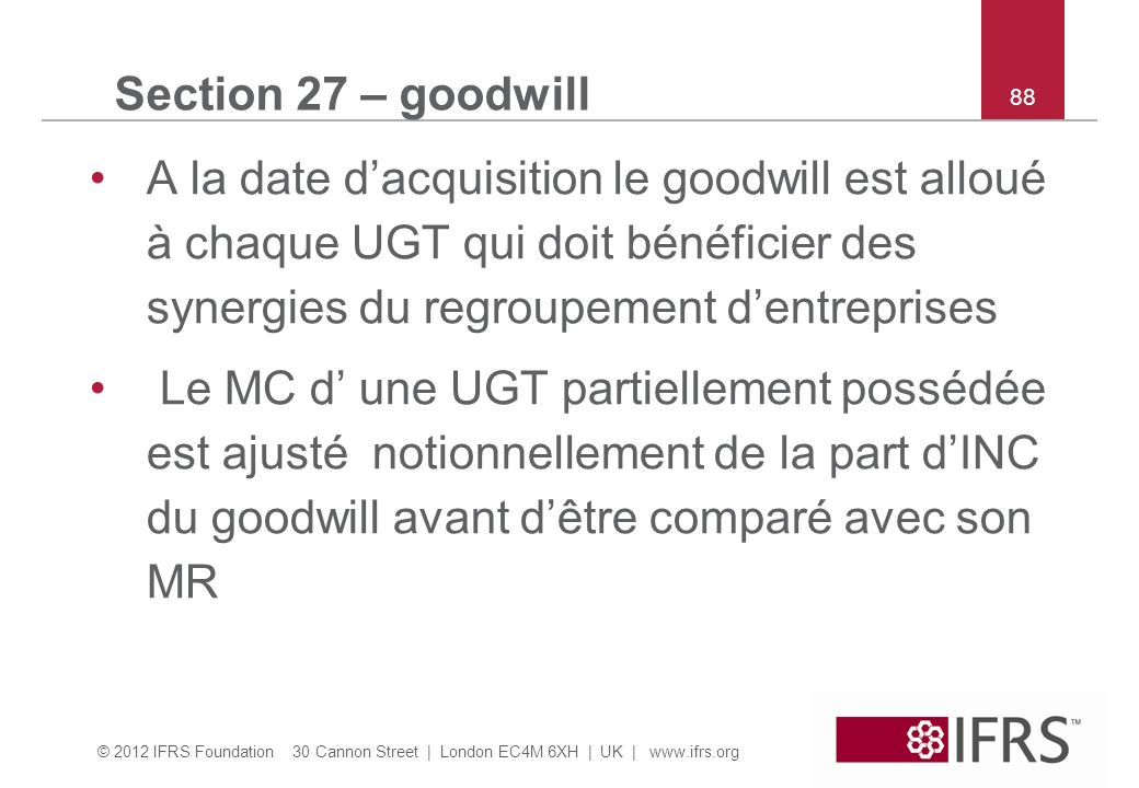 Section 27 – goodwill 88.