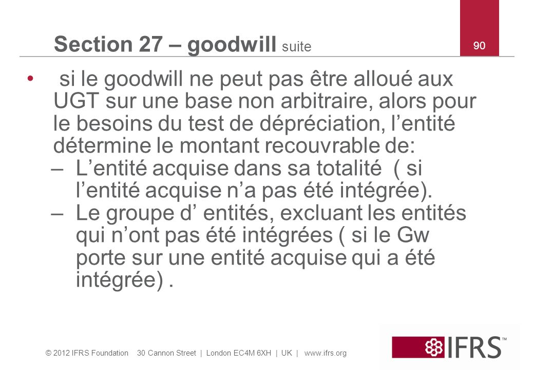 Section 27 – goodwill suite
