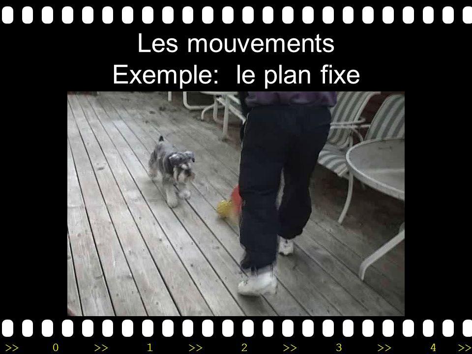Les mouvements Exemple: le plan fixe