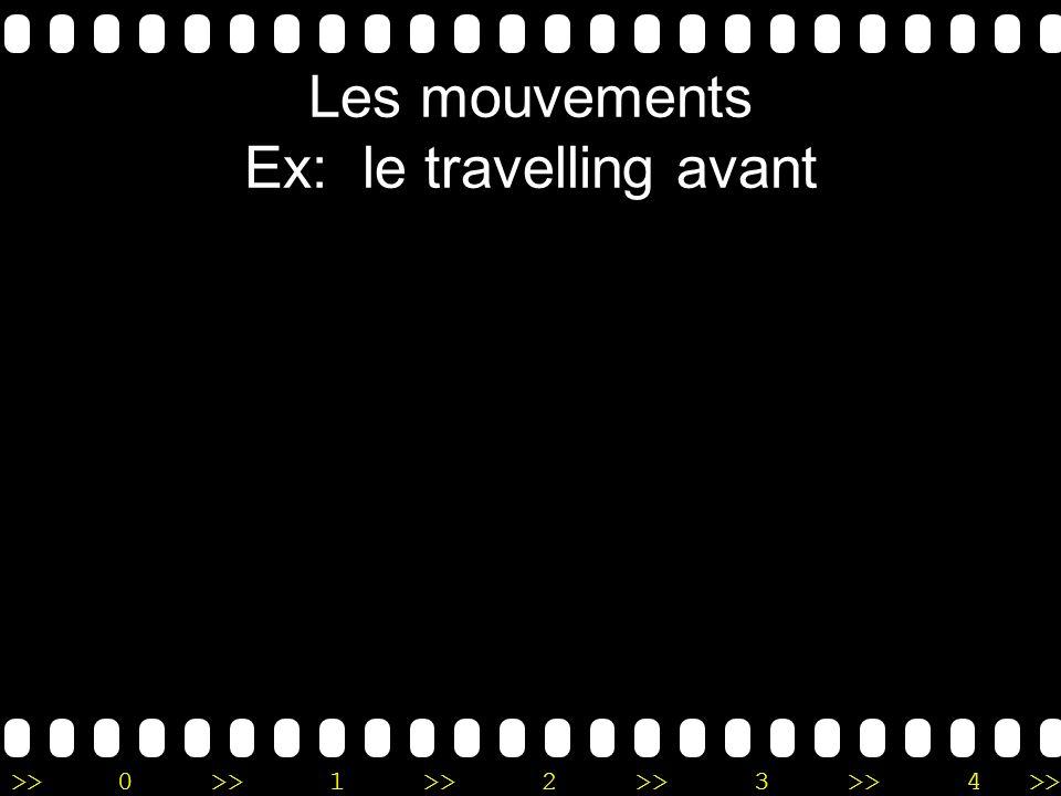 Les mouvements Ex: le travelling avant