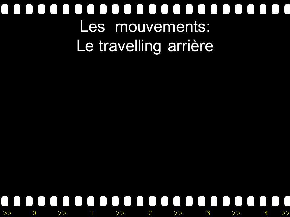Les mouvements: Le travelling arrière