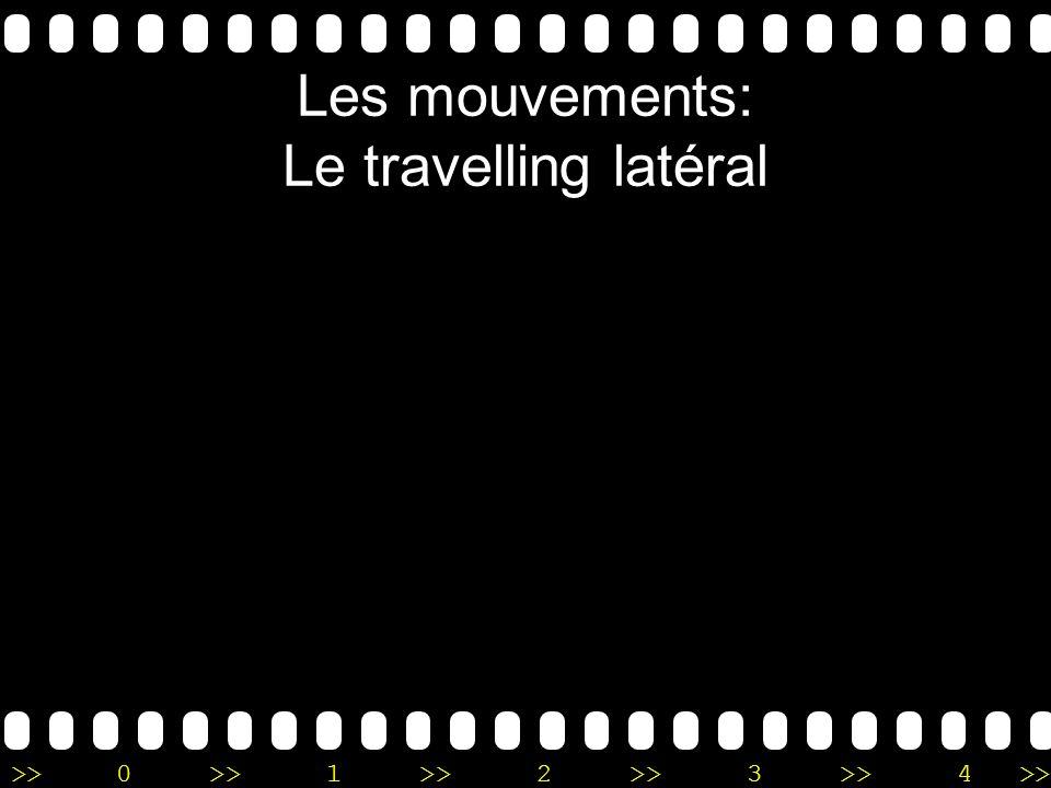 Les mouvements: Le travelling latéral
