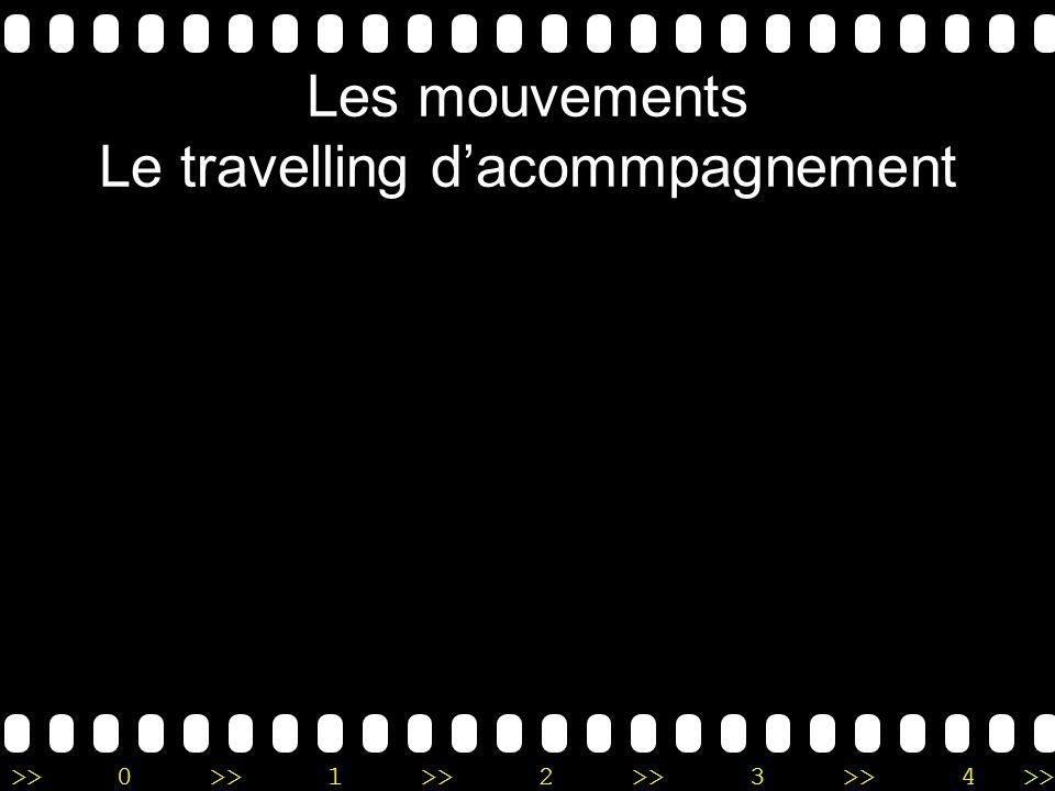 Les mouvements Le travelling d'acommpagnement