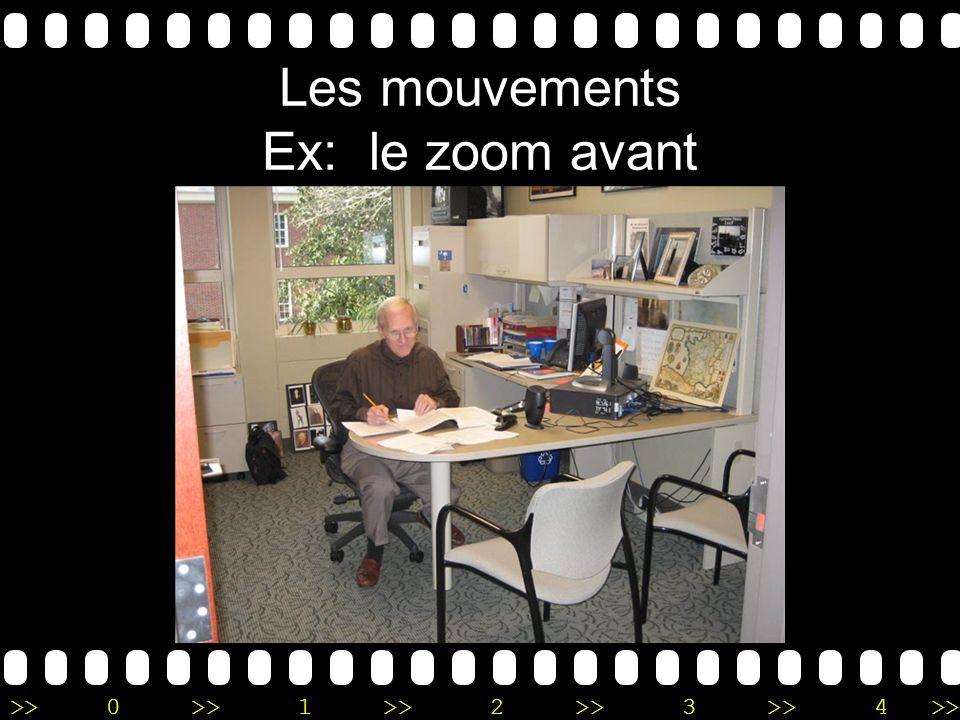 Les mouvements Ex: le zoom avant