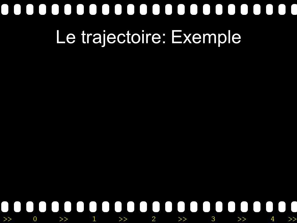 Le trajectoire: Exemple