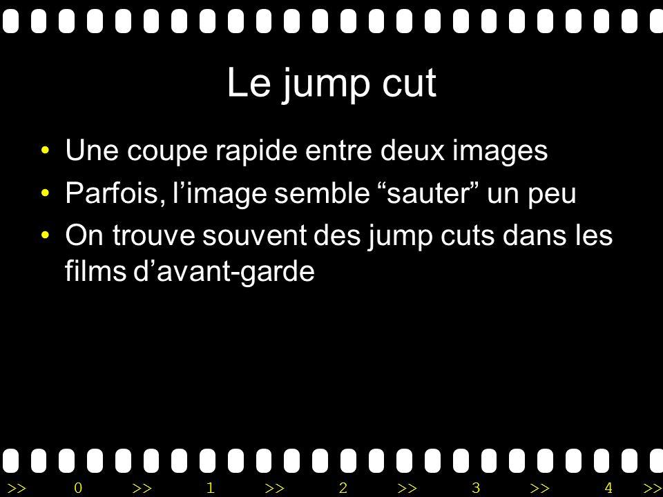 Le jump cut Une coupe rapide entre deux images