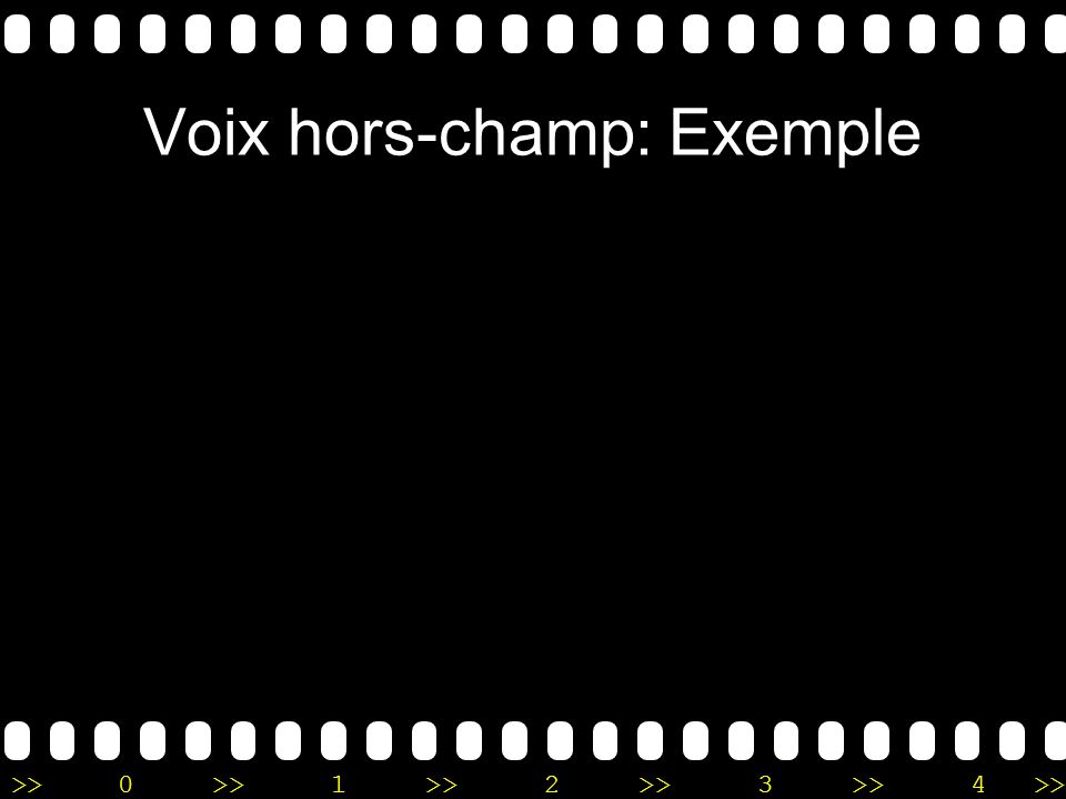 Voix hors-champ: Exemple