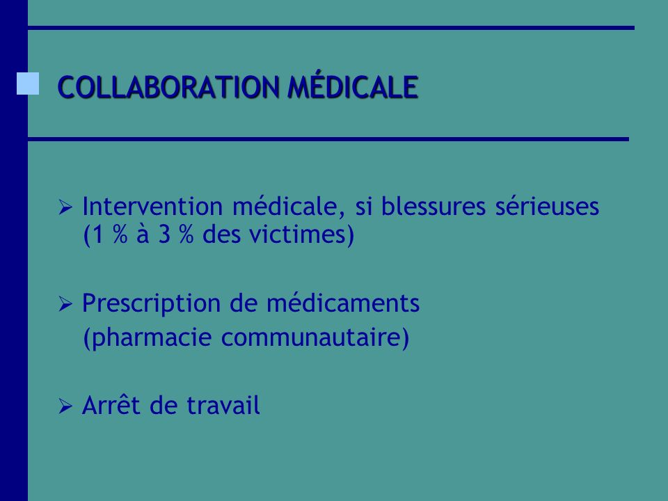 COLLABORATION MÉDICALE