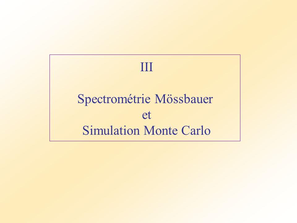 Spectrométrie Mössbauer et Simulation Monte Carlo