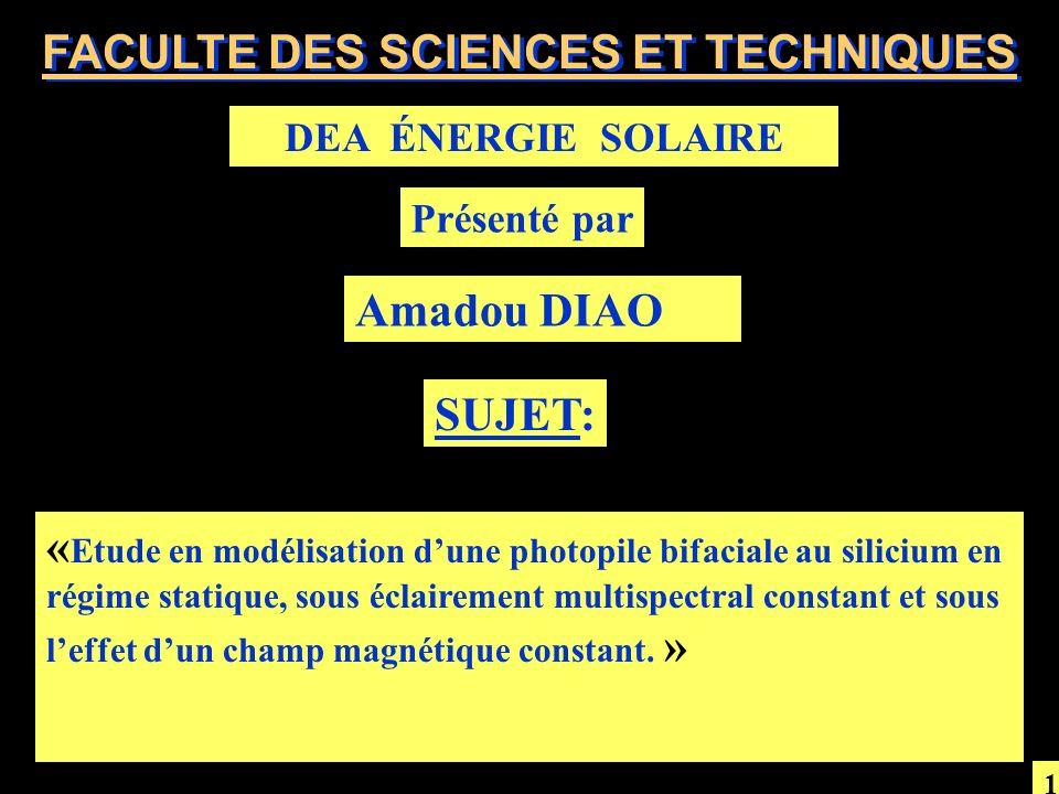 FACULTE DES SCIENCES ET TECHNIQUES