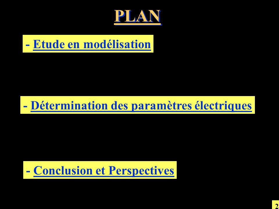 PLAN - Etude en modélisation