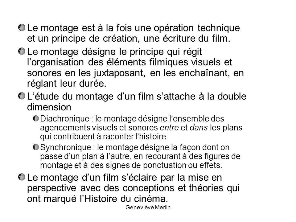 L'étude du montage d'un film s'attache à la double dimension