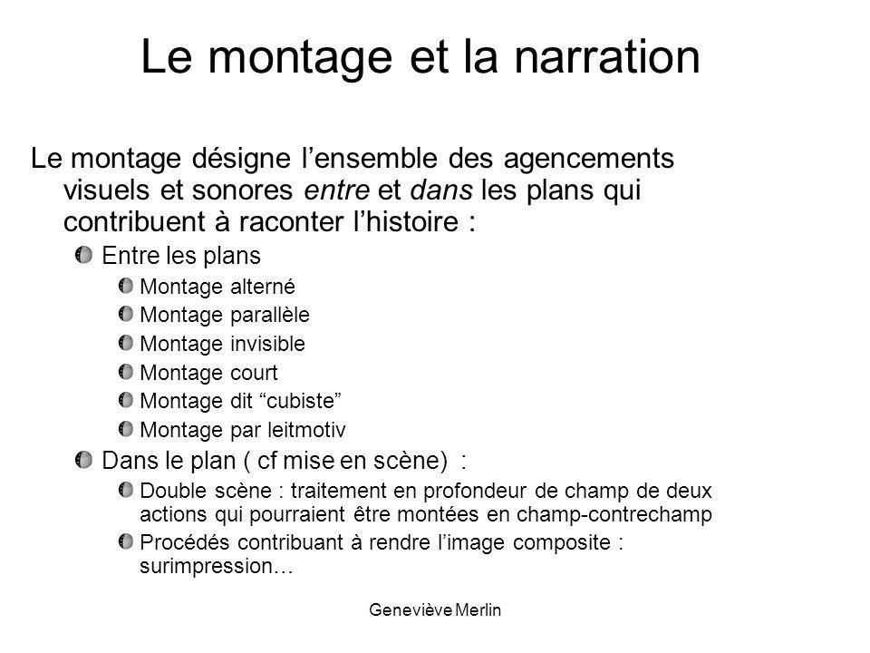 Le montage et la narration