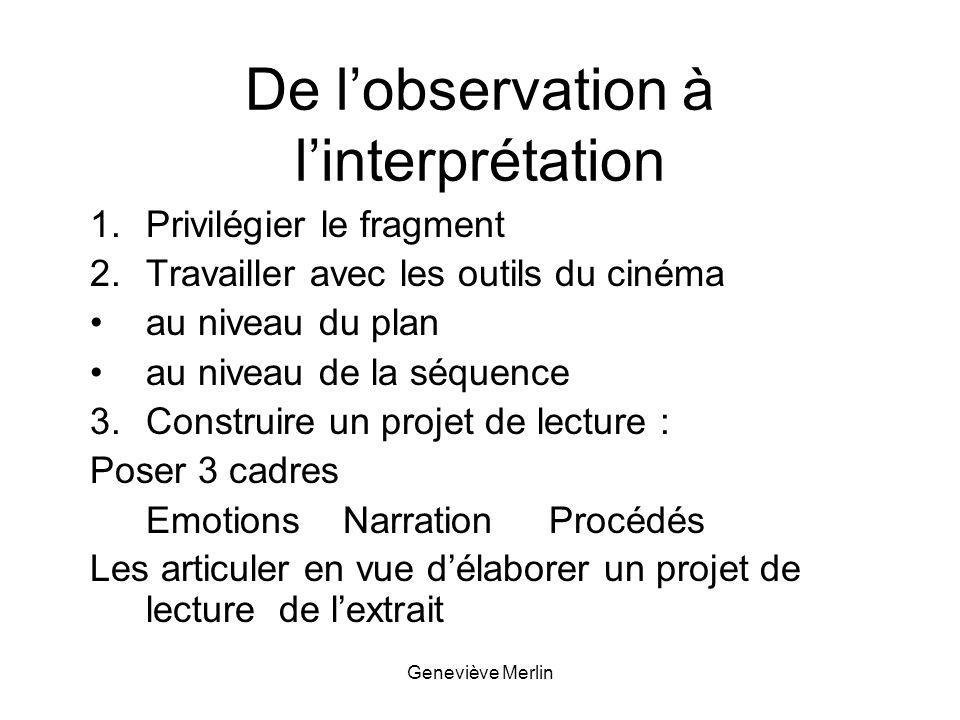 De l'observation à l'interprétation