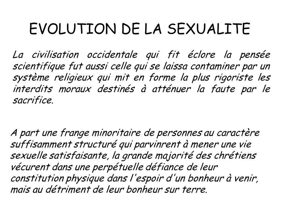 EVOLUTION DE LA SEXUALITE