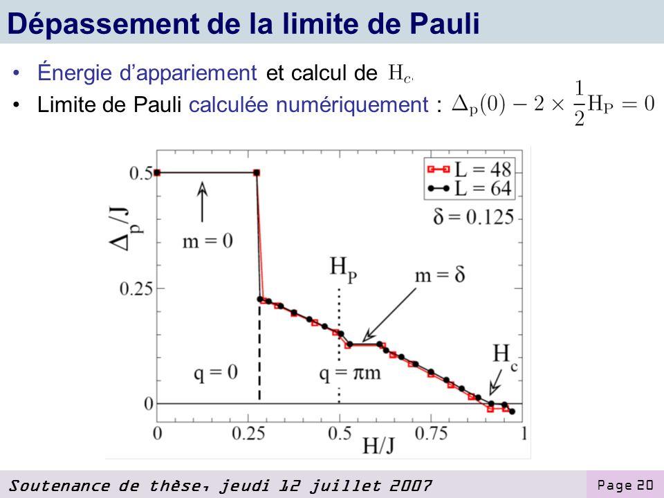 Dépassement de la limite de Pauli