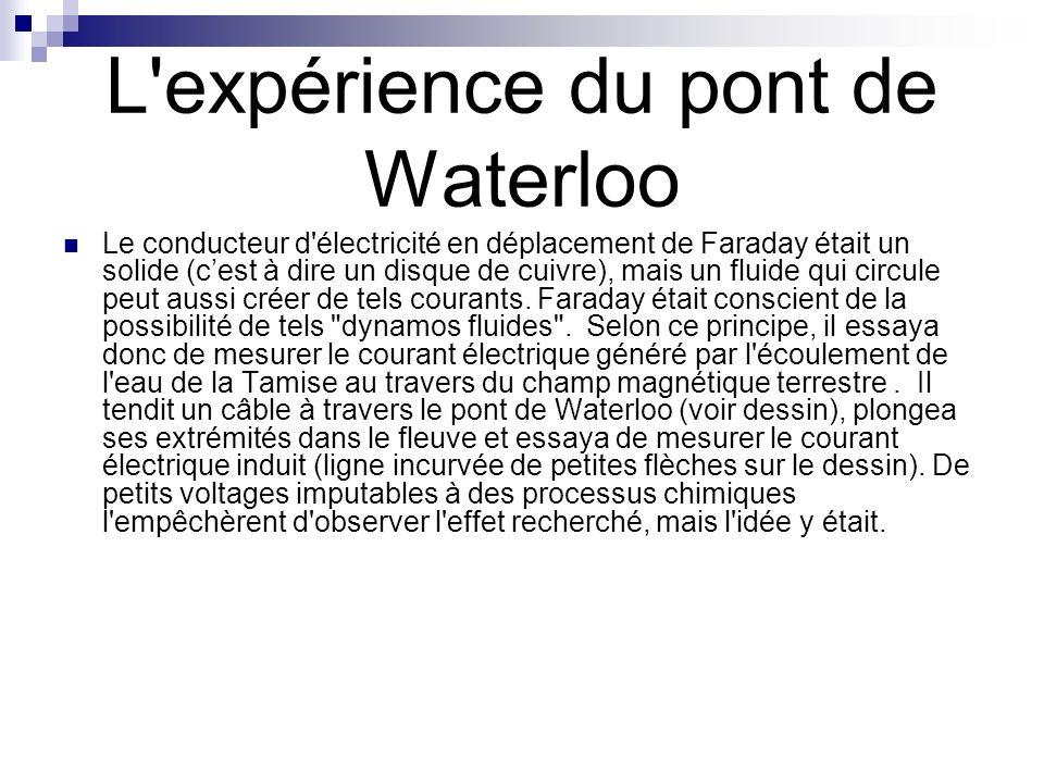 L expérience du pont de Waterloo
