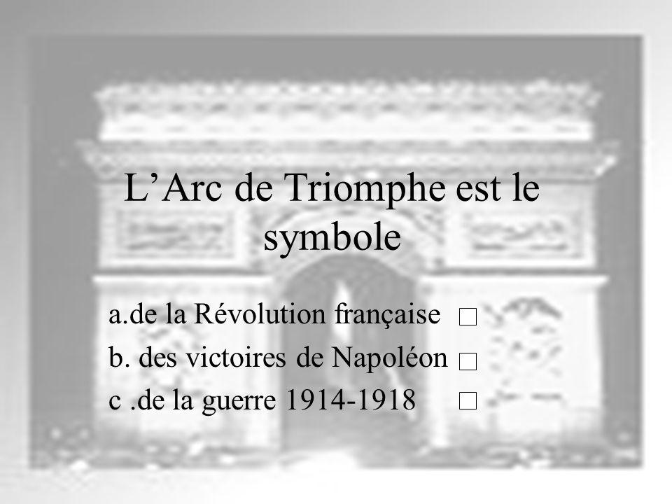 L'Arc de Triomphe est le symbole
