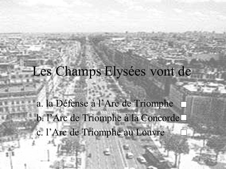 Les Champs Elysées vont de