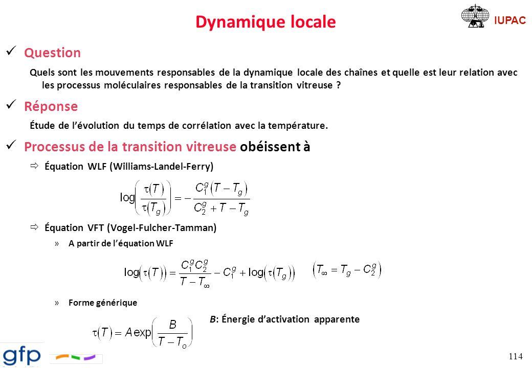 Dynamique locale Question Réponse