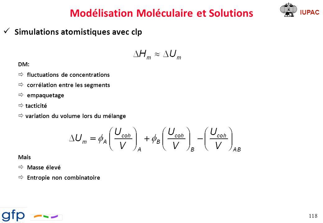 Modélisation Moléculaire et Solutions