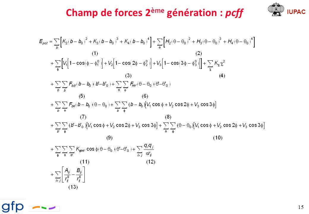 Champ de forces 2ème génération : pcff