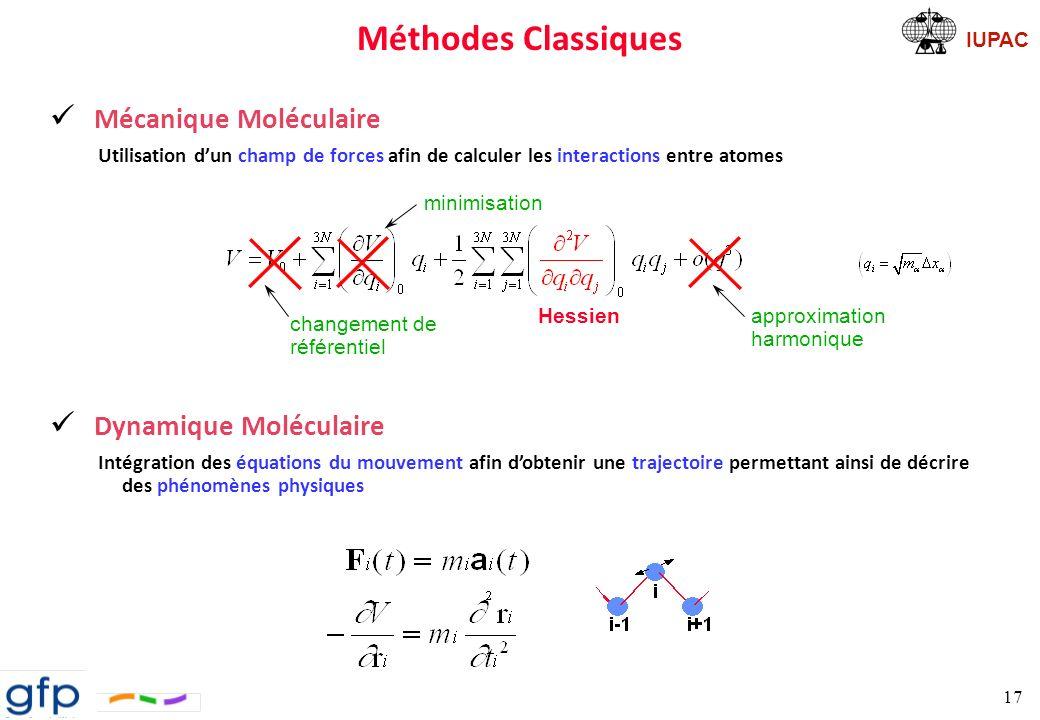 Méthodes Classiques Mécanique Moléculaire Dynamique Moléculaire