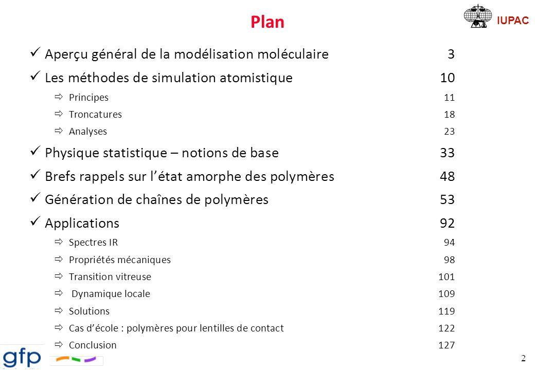 Plan Aperçu général de la modélisation moléculaire 3