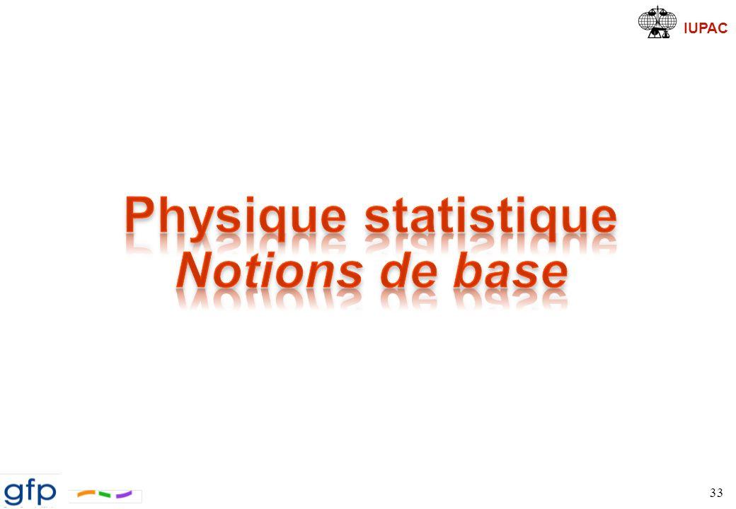 Physique statistique Notions de base