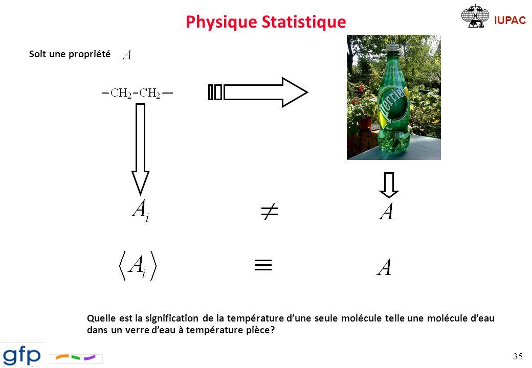 Physique Statistique Soit une propriété