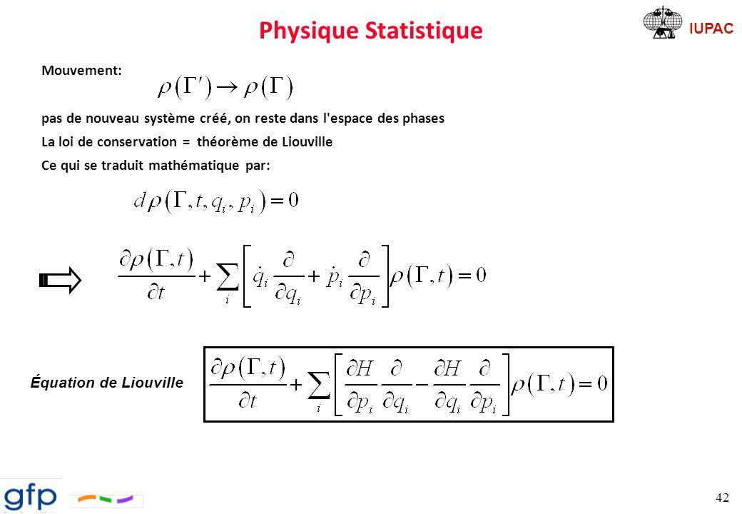 Physique Statistique Mouvement: